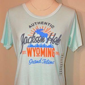 Tops - 🆕 Jackson Hole, Wyoming/Grand Teton Aqua T-shirt